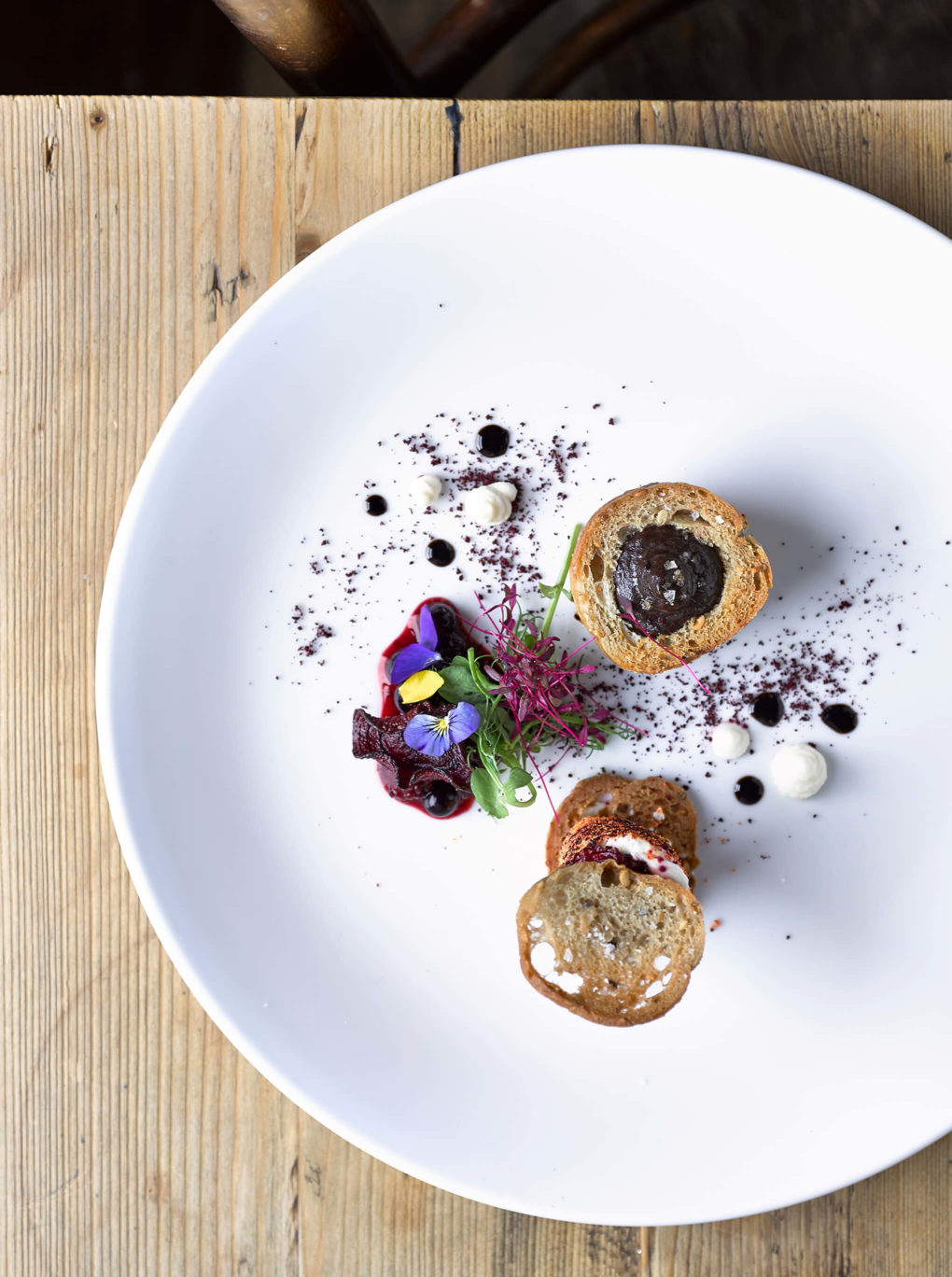 Goats Cheese, Black Pudding and Berries